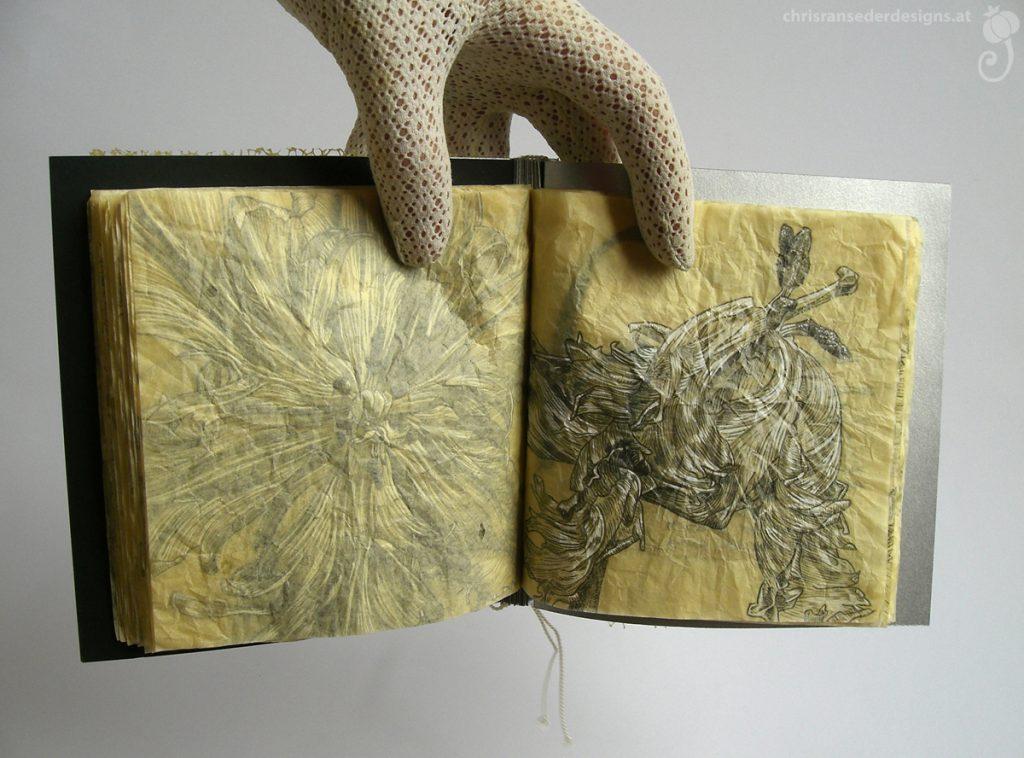A page of the Tulipbook. | Eine Seite des Tulpenbuchs.