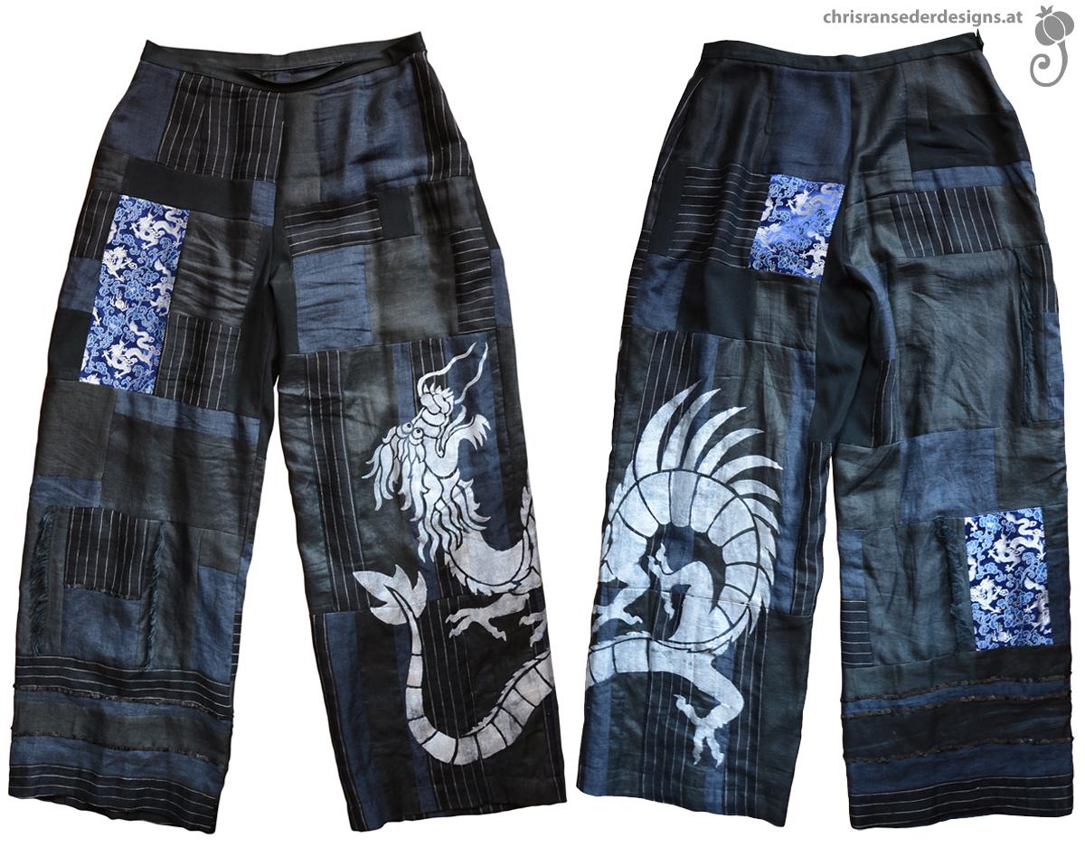 Patchwork trousers. | Selbstgenähte Hose aus Stoffresten.