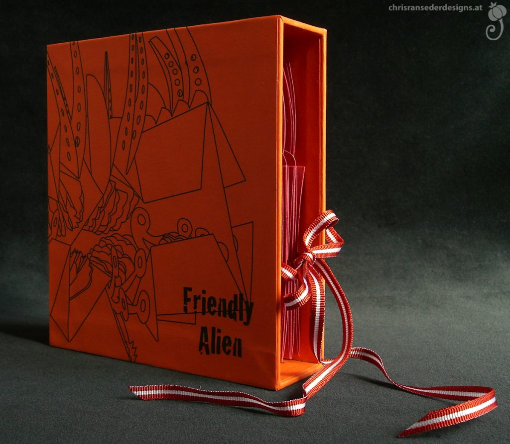"The pop-up ""Friendly Alien"" in a box. 