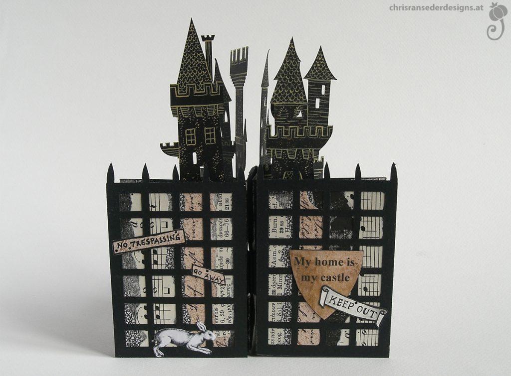 The cover of the slot strip book plus towers. | Das Cover des slot-strip-Buches mit Türmen.