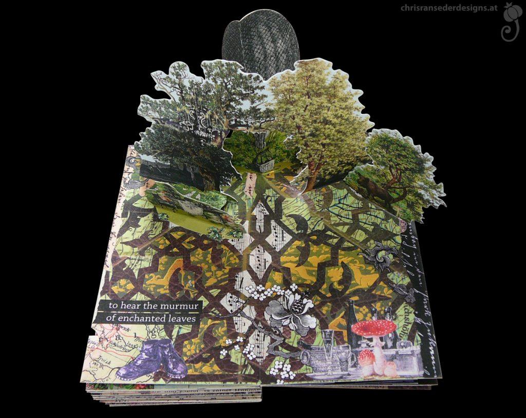 Pop-up of a glade in a wood. A different view. | Eine andere Ansicht des Pop-ups einer Waldlichtung